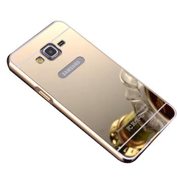 Ốp lưng nhôm mặt gương Galaxy A5 vàng