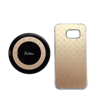 Bộ sạc không dây và ốp lưng LV Galaxy S6 Edge